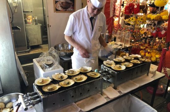 in Kyoto kan je het beste streetfood eten