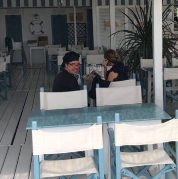 de DF bij zijn vriend Gian Luca op bezoek